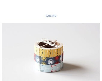 Roll Fabric Reform Tape Decoration for Diary Photo Note etc - SAILING