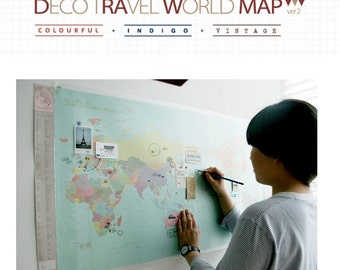 Deco Travel World Map Ver. 2