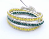 Green Bay Packers Bracelet White Leather