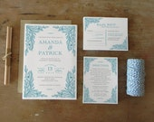 DIY Printable Wedding Invitation Peacock - 4 pieces