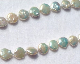 Coin Knotted Pearl Necklace