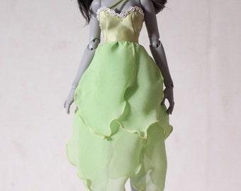 Green Grass -chiffon hem dress for Withdoll/Narae bjd girl