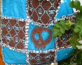 New Handmade by Cadhla Rain 7 PIECE GIFT SET Diaper bag, rag quilt blanket, bib, wipes case and clutch, i spy bag, gift card
