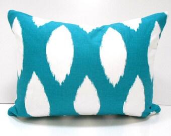 60% SALE Lumbar Pillow Cover Decorative Pillow Cover Pillows Home Decor Premier Prints Chaz True Turquoise