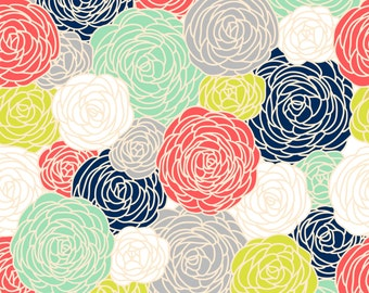Blossom Print  Fabric by the Yard - Multi