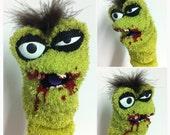 Zombie Sock Puppet