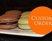 Custom listing for Erin. - 150 French Macarons