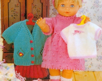 "PDF Vintage Knitting Patterns for Dolls - 12"" to"" 22"" Also suitable for Prem Babies"