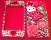 Iphone 4 Hello Kitty Designer Deco Bling Case
