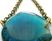Sultana Geode Blue Necklace