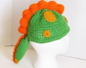 Dinosaur Hat with Spikes Toddler Crocheted