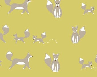 Monaluna Fresh Organic Fabrics Fox Hollow Collection One Yard Family Fox