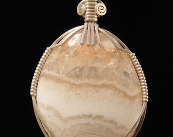 Candy Stripe Onyx Pendant in Sterling Silver