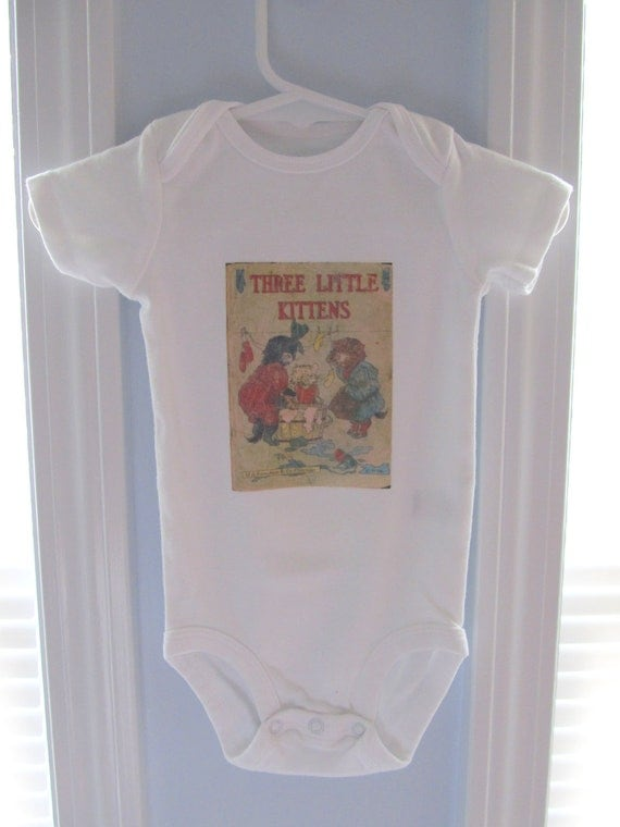 Vintage Onesie - Three Little Kittens