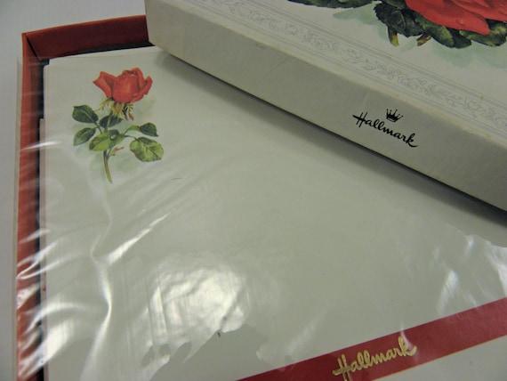 Vintage Hallmark Stationary Roses Full box Unopened Paper and Envelopes