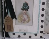 50% off 12.00 Posh Vintage Journal French Millinery Ladies, Vintage Ribbons Buttons French Ephemera,  A Day in Paris