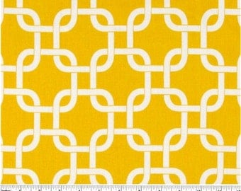 Yellow and White Gotcha Curtain Valance - 50x14 inches