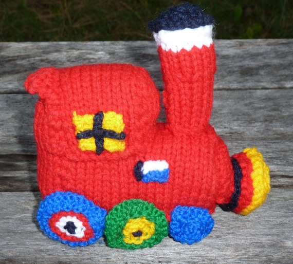 Knitting Pattern For Toy Train : Babys First Knitted Train Toy