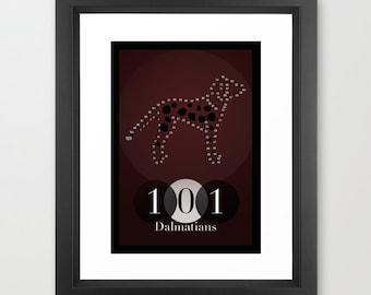 Disney's 101 Dalmatians Minimalist Poster