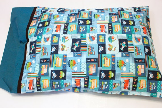 Pillow Case, Pillow Sham, Pillow Cover, Great Birthday or Holiday gift for boys and girls - Travel Along Patch