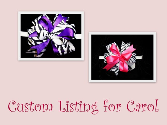 Custom Listing for Carol by Bloomin Cuties Boutique