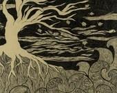 """I Am A Tree 11x14"""" Ink Illustration Fine Art Print"""