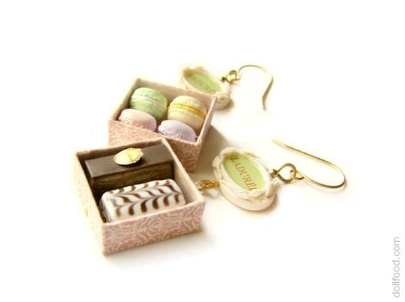 Ladurée Earrings - OOAK Earrings - Food Jewelry