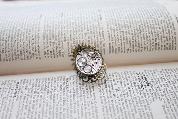 Steampunk Vintage watch movement Ring