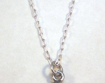 Pewter Running/ Track Shoe Charm on a 24 Inch Link Chain - Free Shipping in the US - (5450)