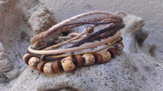 Men's Bracelet - Lion - Nut, Wood, Glass, Metal, Fiber - Perfect Size