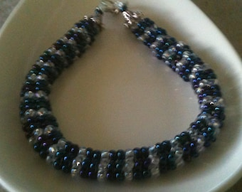 So Beautiful bead and crystal bracelet