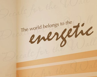 The World Belongs Energetic Inspirational Kid Vinyl Lettering Quote Large Wall Decal Art Letters Sticker Decoration Saying Decor IN46