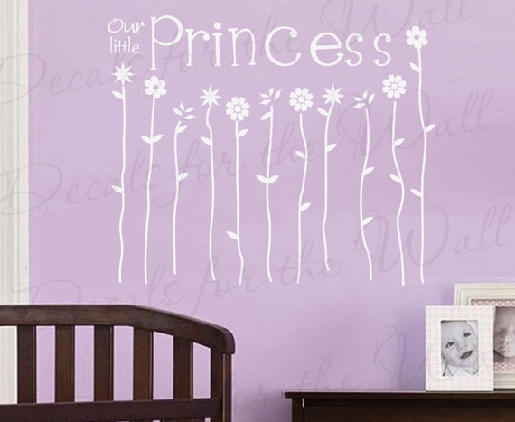 Our Little Princess Girl Girl Room Kids Nursery Wall Decal Decor Vinyl Quote Sticker Saying Lettering Art Mural Decoration B43