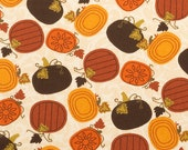 Primitive Pumpkin Harvest - Fat Quarter 18 inches x 22 inches - H