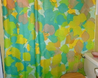 "Shower Curtain - ""Plucked Leaves"""