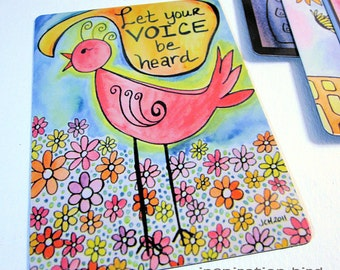 "Art Magnet Let Your Voice Be Heard Bird 3.5"" x 5"""
