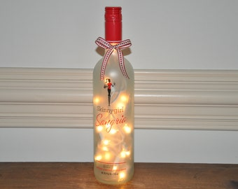 Skinny Girl Sangria                                        Lighted Glass Wine Bottle Lamp