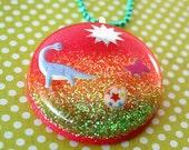 Neon Dinosaur Necklace