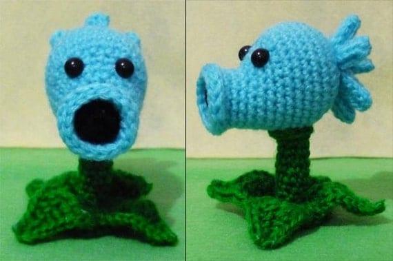 Amigurumi Plants Vs Zombies : Items similar to Crochet SnowPea amigurumi Plants vs ...