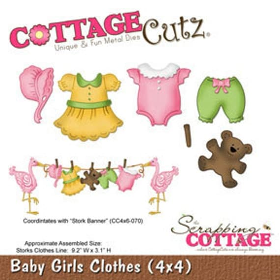"""Cottage Cutz """"Baby Girl Clothes (4x4)"""""""