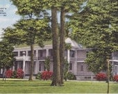 FORT BENNING, GEORGIA Commandant's Residence, Fort Benning, Georgia, Vintage Linen Used and Stamped Postcard, 1950s, Kropp Co.