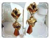Haute Couture Earrings - Vintage 1980's Kalinger - Paris  E435a-042712000