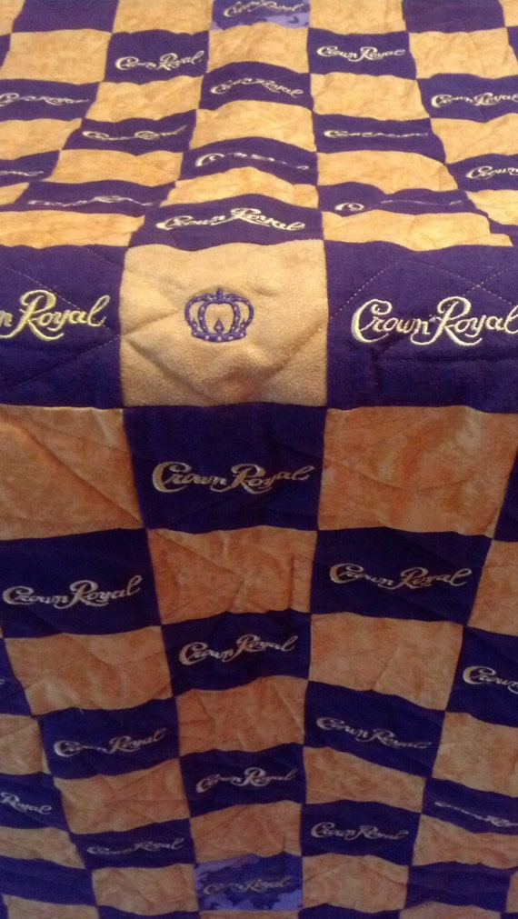 Man Cave Quilt Pattern : Erika s finished crown royal quilt