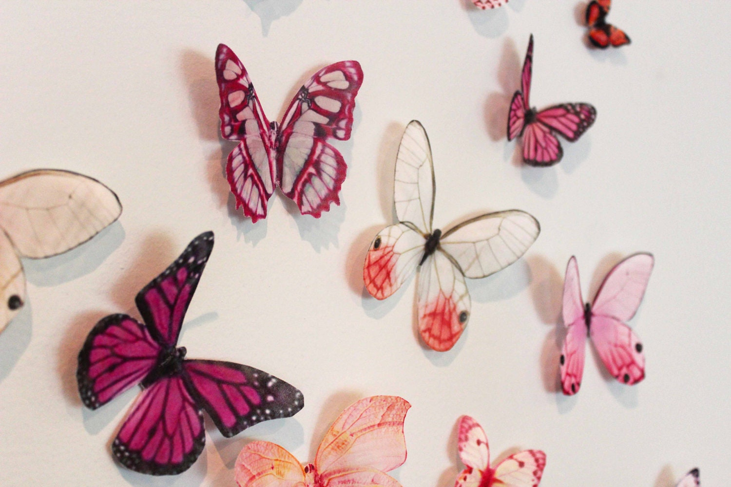 Items similar to organza butterfly wall decoration 42 for Making butterfly decorations
