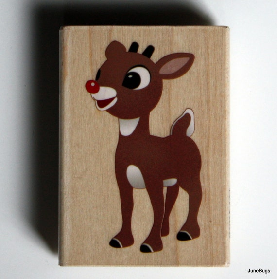 Rudolph the Red Nose Reindeer Christmas Holiday Rubber Stamp