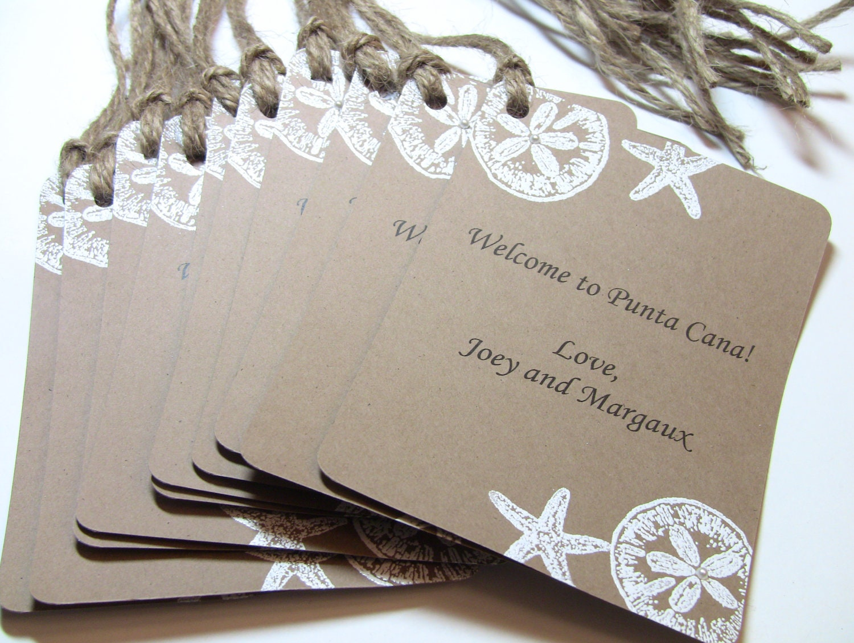 Wedding Favor Bag Tags : Customize Any Color 10 Custom Wedding Gift Bag Tags and