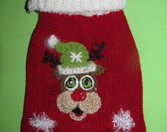 Christmas dog sweater Christmas dog clothes Christmas dog costume Christmas puppy clothes Christmpas pet clothes xxxs X small medium large