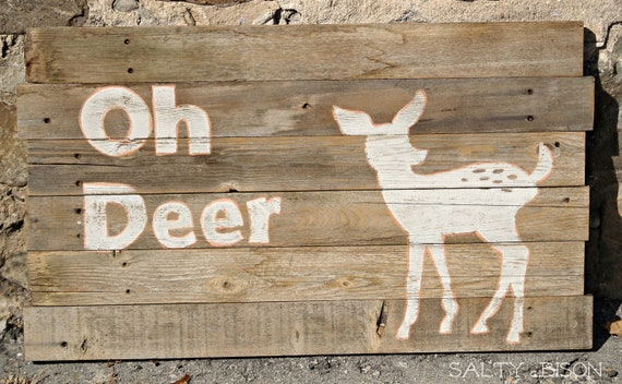 Oh Deer Wooden Sign