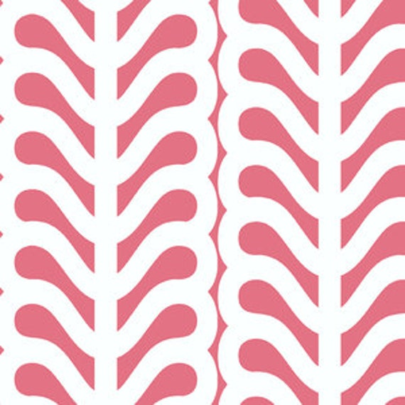 Outfoxed Leaf Stripe in Pink by Lizzy House- 29.5""