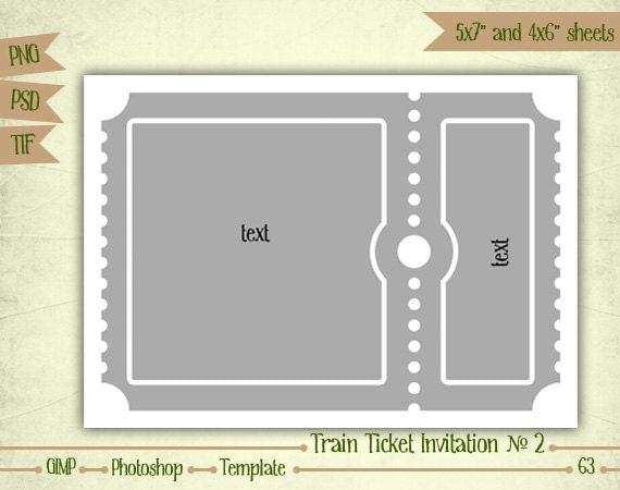 train ticket invitation n2 digital collage sheet by eudanedigital. Black Bedroom Furniture Sets. Home Design Ideas